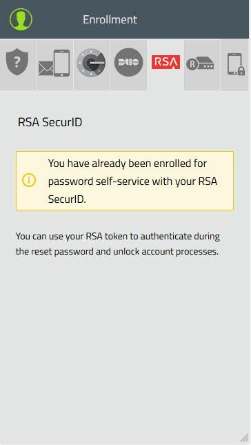resetting id rsa how to enroll