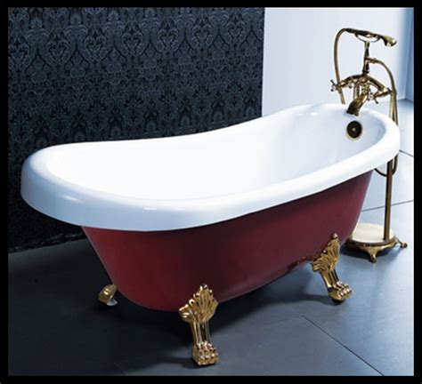 red bathtubs 1 7 meter hot sale red color acrylic clawfoot bathtub free