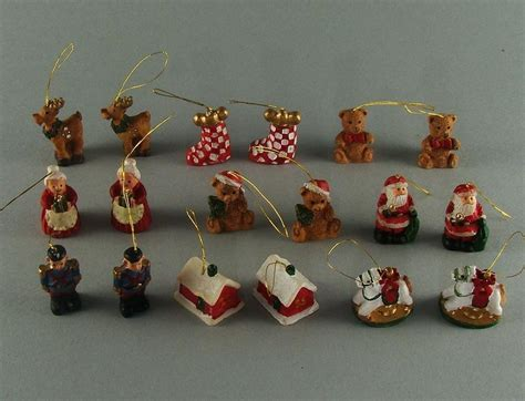 18 resin mini christmas tree ornaments destash