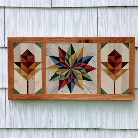 Wooden Barn Quilts by Pallet Wood Barn Quilt Mosaic Handmade