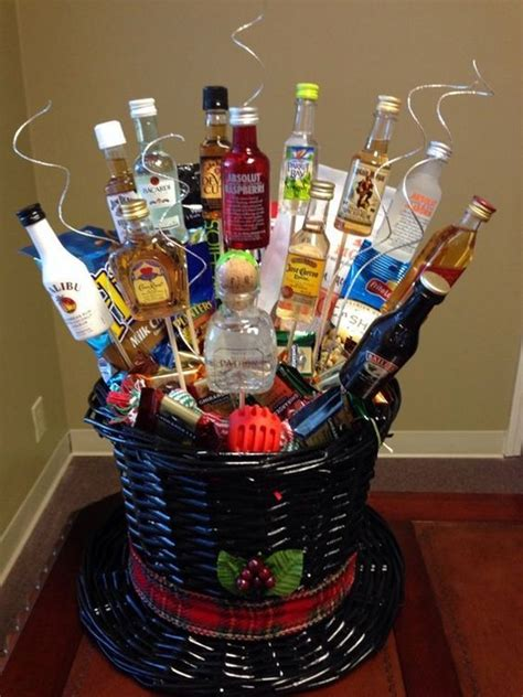 liquor gift for office best 25 liquor gift baskets ideas on mini bouquet burger