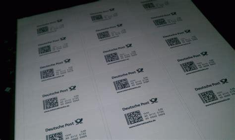 Etiketten Briefmarken Drucken by Internetmarke Porto Drucken Bei Der Deutschen Post