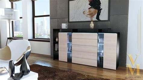 sideboard schwarz matt modern highboard sideboard buffet cabinet dresser lissabon