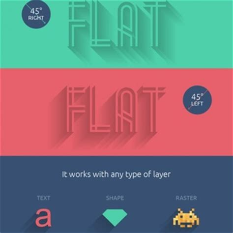 photoshop template long shadow text effects psd 60 free psd files
