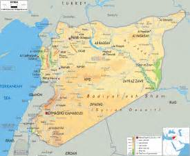 Maps Of Syria by Physical Map Of Syria Mapping Out The World Pinterest