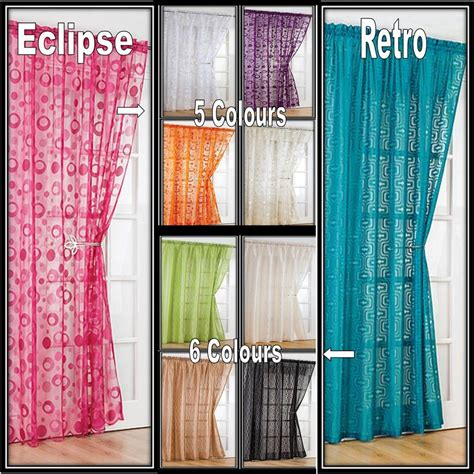 modern vintage curtains modern retro voile net curtain panel 54 quot 72 quot 90 quot same
