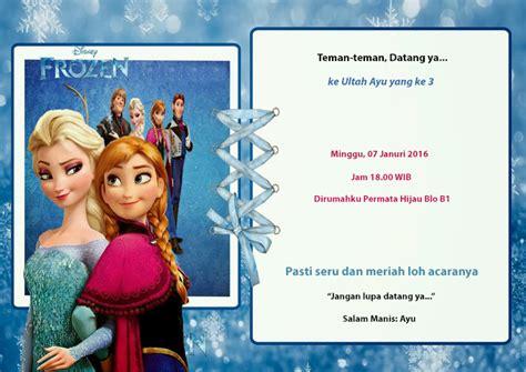 Kartu Undangan Ulang Tahun Anak Disney kartu undangan ulang tahun anak frozen