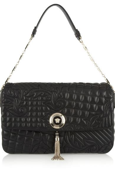 Versace Embroidered Shoulder Bag by Versace Vanitas Large Embroidered Leather Shoulder Bag