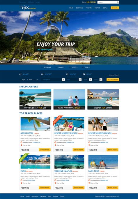 html5 travel templates 10 eye catching travel website templates