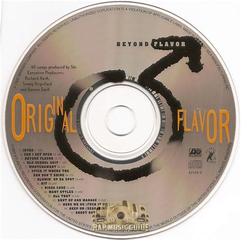 Flava Original original flavor beyond flavor cd rap guide