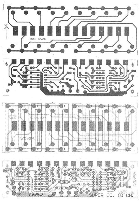 Pcb Equalizer 10channel 10 channel graphic equalizer circuit using la3600