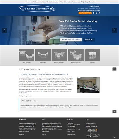 design lab website dental website design portfolio solution21