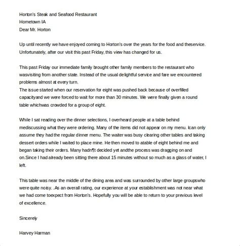 Letter Of Complaint Customer Service Template complaint letter sle poor service
