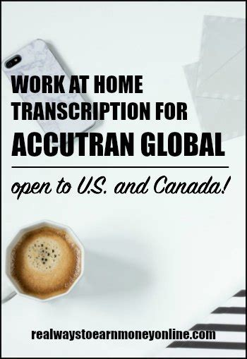 work from home transcription for accutran global