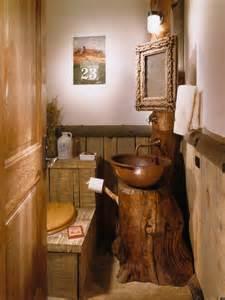 The bachelor gulch lodge rustic powder room denver