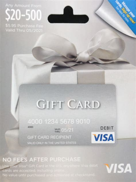 Visa Gift Card Denominations - visa gift card denominations lamoureph blog