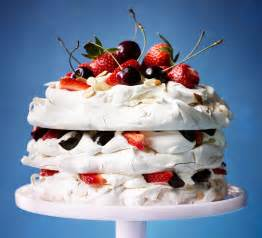 Cooking Light Desserts Amaretto Meringue Cake With Strawberries Amp Cherries Bbc