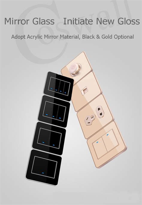 luxury power outlets coswall brand dislocation 5 socket luxury wall power