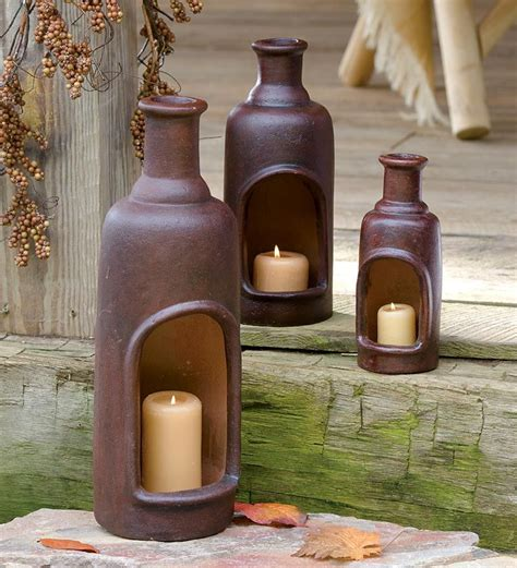 handmade ceramic mexican candle chimney with candle