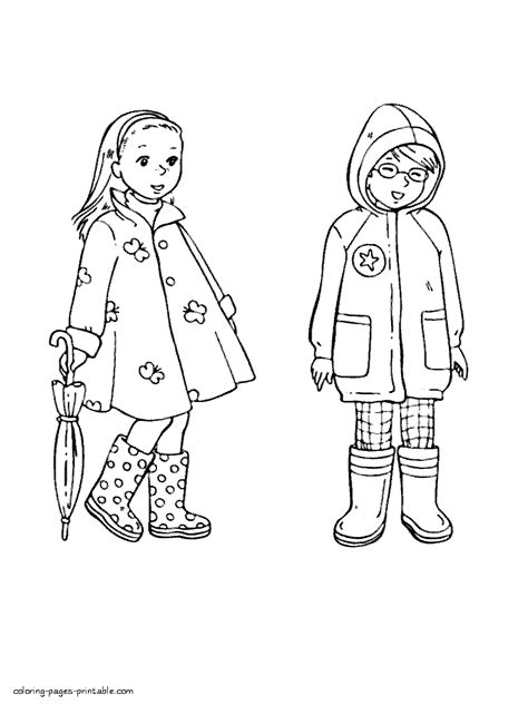 girl clothes coloring page spring clothing coloring pages