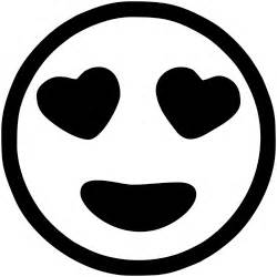 printable emoji eyes large heart eyes emoji st valentine s day