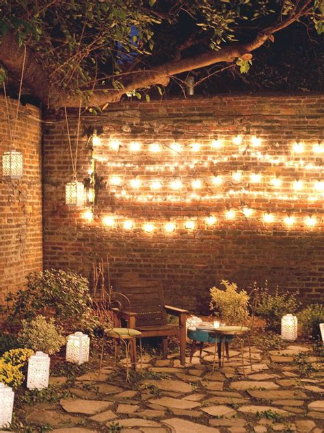 Hanging Lights Patio Hanging Patio String Lights A Pattern Of Perfection Yard Envy