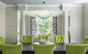 Grey Green Dining Room Chartreuse Chairs Contemporary Dining Room Ej Interiors