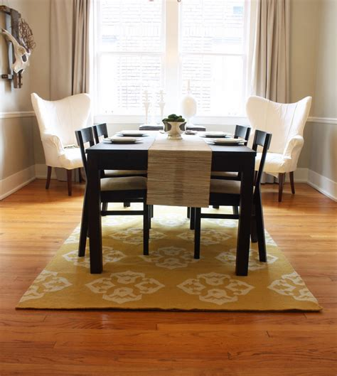 Rug In Dining Room Dwell And Tell Dining Room Updates Curtains Rug