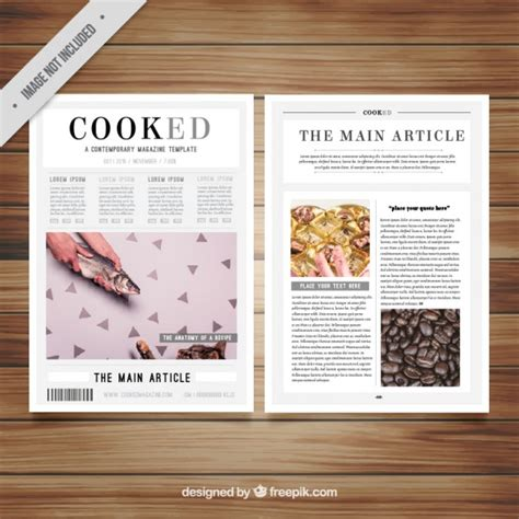 editable magazine template magazine template with pictures vector free