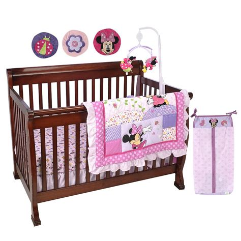Minnie Crib Bedding Set Minnie Mouse Crib Sets And Nursery Decor