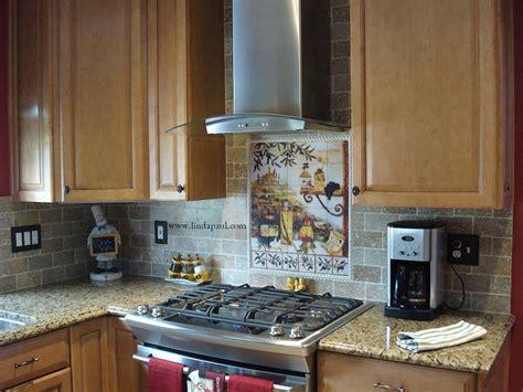 Kitchen With Tile Backsplash | tuscan backsplash tile murals tuscany design kitchen tiles