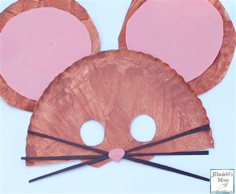Mask Craft Paper Plate - if you take a mouse to school paper plate mask for