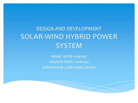hybrid layout ppt solar wind hybrid power system ppt