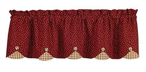 15 different valance designs park designs apple jack scallop valance 58 x 15 quot import