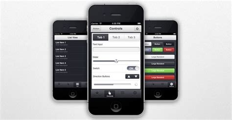 ui themes for iphone appview iphone app ui theme free psd freebiesbug