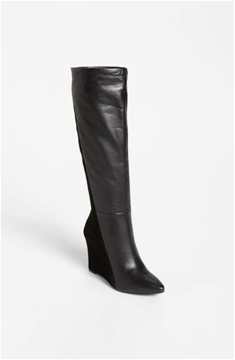 vince camuto kaliah wedge boot in black lyst