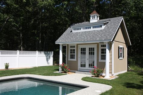 pool shed plans heritage pool house pleasant run structures