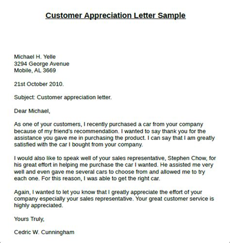 thank you letter to client for their support customer thank you letter docoments ojazlink