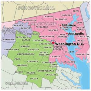 Map Of Virginia And Maryland by Military Relocation County Maps