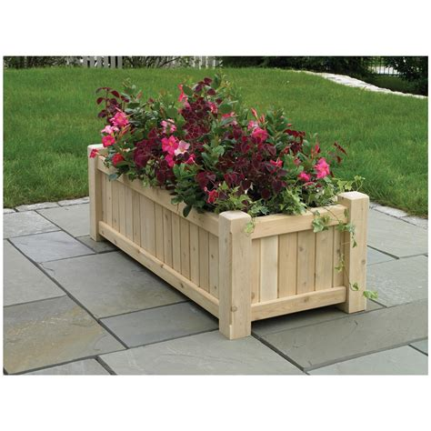 Planter Box Flower Ideas Flower Box Ideas Using Some Old Patio Planter Ideas