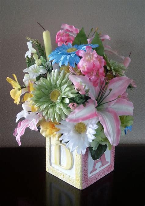 baby shower flower arrangements centerpieces baby shower flower arrangement centerpiece artificial
