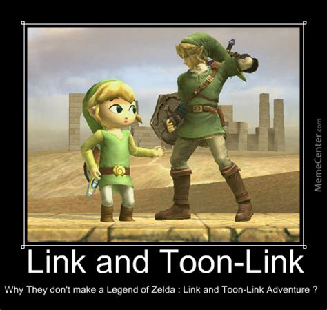 Funny Link Memes - link and toon link by nrpyeah meme center