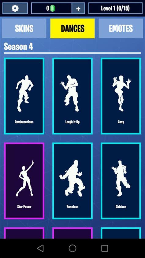 fortnite danses emotes skins  telecharger pour