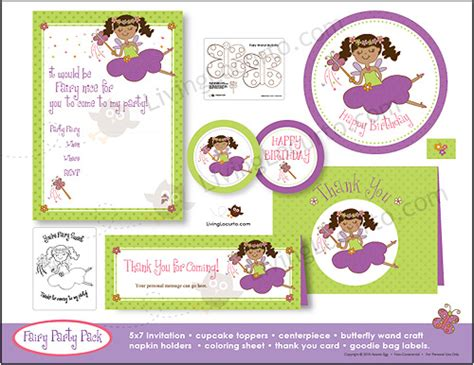 printable fairy party decorations fairy princess birthday party printables party