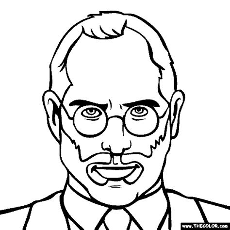 steve jobs coloring pages free online coloring pages thecolor