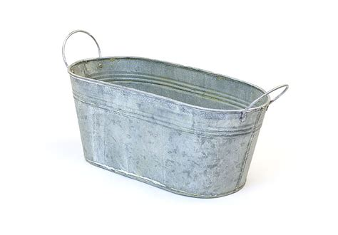 tin bathtub 12 quot tin oval tub vintage finish