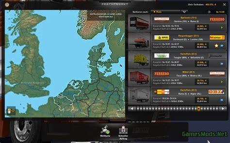 mod map game euro truck simulator 2 europe menu map mod v1 1 187 gamesmods net fs17 cnc fs15