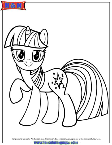 unicorn pony twilight sparkle coloring page h m