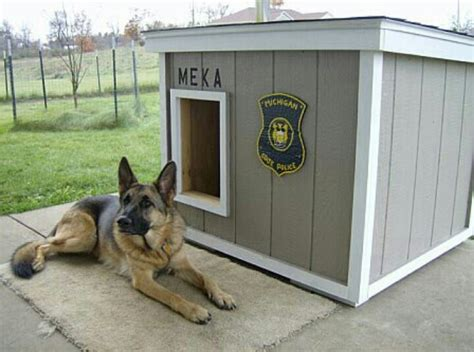 93 Best Images About Pups Huts On Pinterest Wolves German Shepherd House Plans
