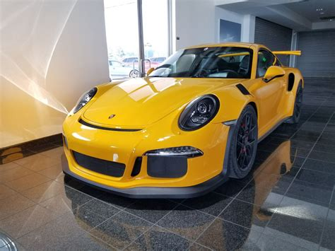 Porsche Gt3 3 8 2014 Yellow dealer inventory 2016 porsche gt3 rs pts signal yellow